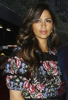 Look of the Day: Camila Alves Attends Mud Screening in Floral and Lace Dolce & Gabbana Dress