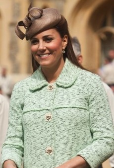 Look of the Day: Catherine, Duchess of Cambridge Covers Up Her Growing Baby Bump in Mulberry