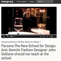 There's Now a Petition to Block John Galliano from Teaching at Parsons