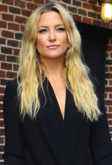 Look of the Day: Kate Hudson Visits David Letterman in Black Barbara Bui Dress