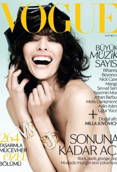 Manic Milla Jovovich Covers Vogue Turkey's May Issue (Forum Buzz)