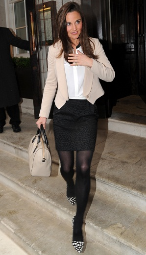 Pippa Middleton leaving a function