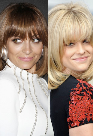 Seeing Double: Nicole Richie and Alice Eve Surprise in 70s Fringed Bobs