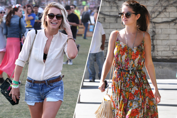 Julianne Hough and Selena Gomez, casual style