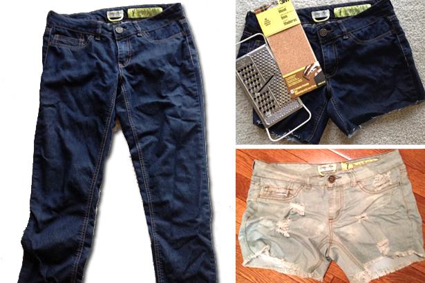 How to turn jeans into DIY Denim Cutoffs