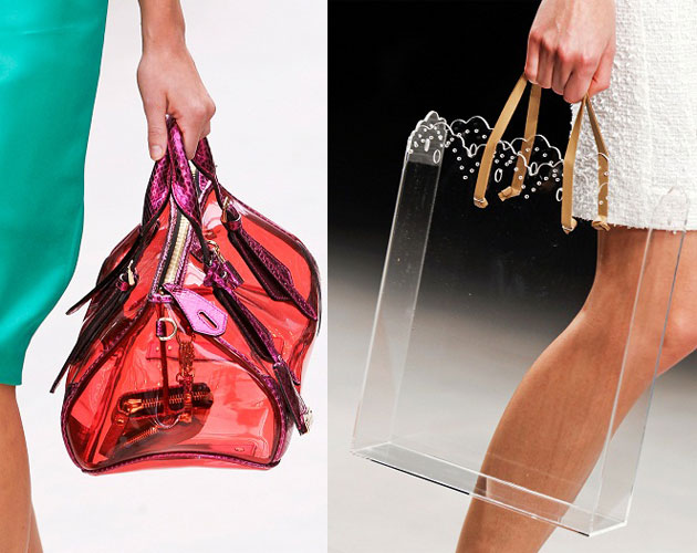 Perspex bags on Burberry and Simone Rocha runways, Spring 2013