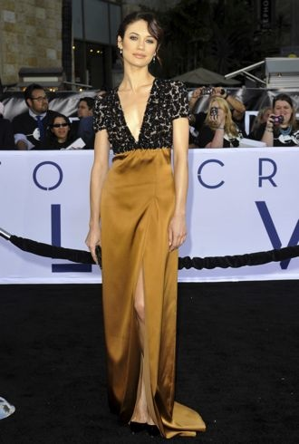 Olga Kurylenko Los Angeles premiere of Oblivion April 2013 cropped
