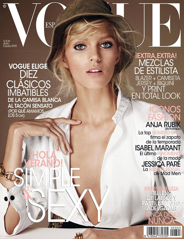 Vouge Spain June 2013 - Anja Rubik