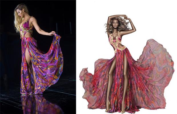 Roberto Cavalli rendering of Beyonce