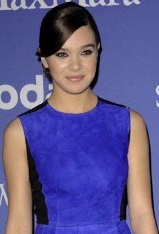 Hailee Steinfeld Makes Her Mark in a True Blue Suede Sportmax Dress