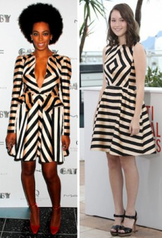 Seeing Double: Solange Knowles Sexes Up Katie Chang's Jill Stuart Stripes and More Matching Celebs