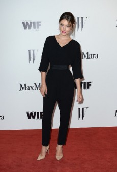 Phoebe Tonkin Rocks a Black Belted Jumpsuit on a Los Angeles Rooftop
