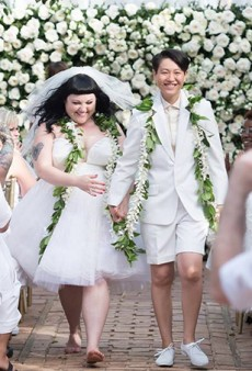 Beth Ditto Wore a Jean Paul Gaultier Gown (and No Shoes) to Marry Girlfriend Kristen Ogata