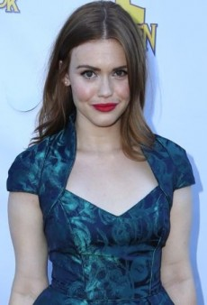 Holland Roden's Green Theia Fall 2013 Patterned Party Dress