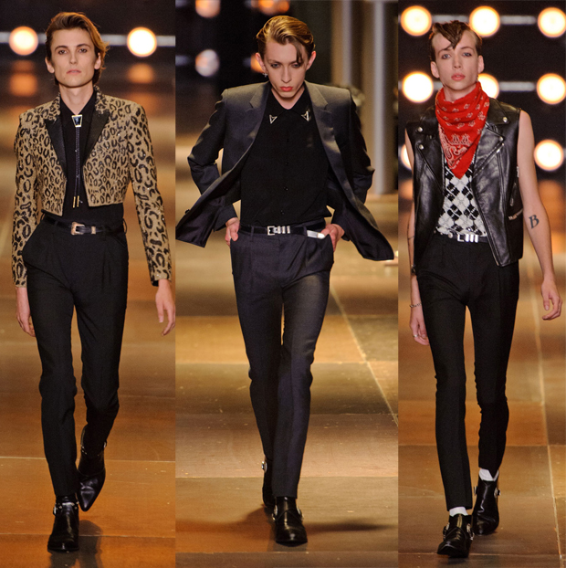 Saint Laurent Men's Spring 2014, image: IMAXtree