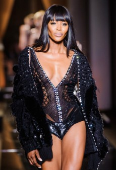 Naomi Campbell Kicks Off Fall 2013 Haute Couture in Versace