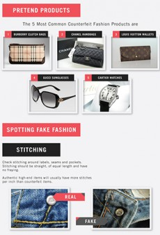 Do You Know How to Spot Fake Fashion? [Infographic]