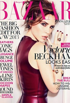 September Issues: Victoria Beckham Covers Harper's Bazaar Singapore