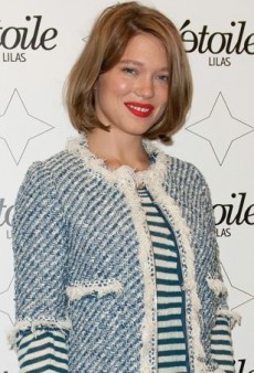 Léa Seydoux Doubles Up on Stripes in Louis Vuitton