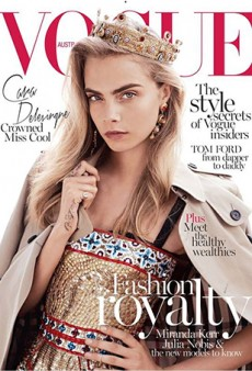 Cara Delevingne is 'Fashion Royalty' on the Cover of Vogue Australia