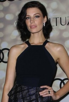 Jessica Paré Kicks Off Emmy Week in a Navy Bibhu Mohapatra Dress