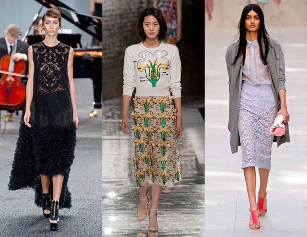 The Hits: Erdem, Christopher Kane, Burberry Prorsum. Images via IMAXtree