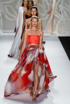Monique Lhuillier Spring 2014: A World Where Eveningwear is All You Need