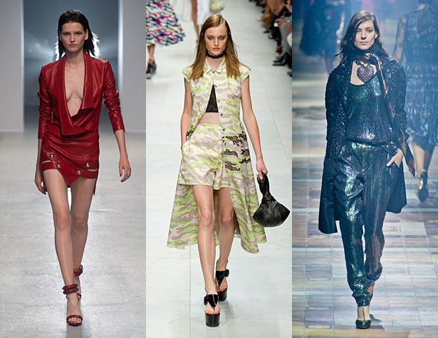 The Misses: Anthony Vaccarello, Carven. Lanvin. Images via IMAXtree