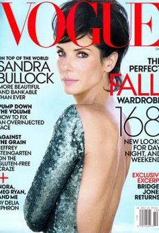 Sandra Bullock Wears Marc Jacobs on the Cover of Vogue's October Issue