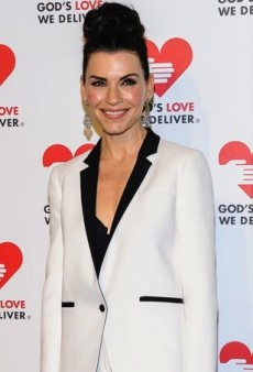 Julianna Margulies Keeps It Black and White in Michael Kors