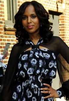 Kerry Washington Talks Scandal in Prabal Gurung's Floral Resort 2014 Dress