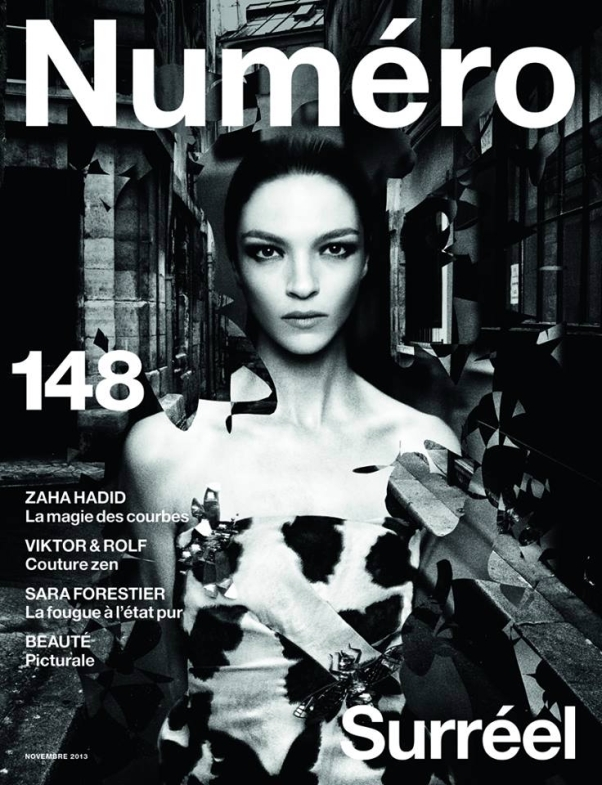 Mariacarla Boscono on Numéro France #148
