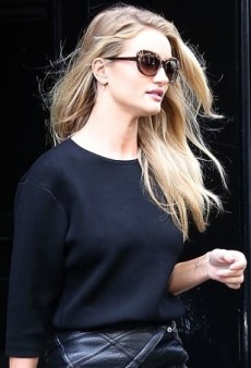 Rosie Huntington-Whiteley Takes a Break From the Runway in J Brand and Loewe x Junya Watanabe