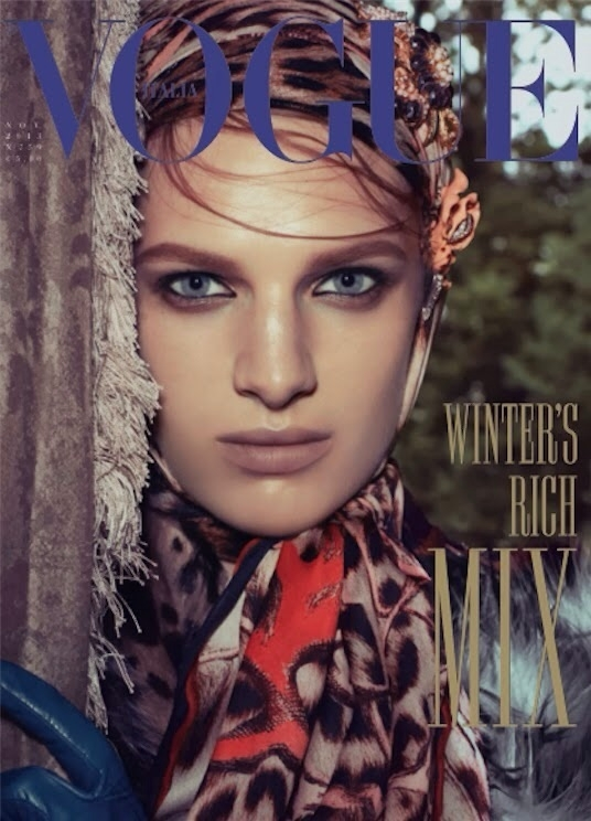 Ashleigh Good on the cover of Vogue Italia November 2013, shot by Steven Meisel