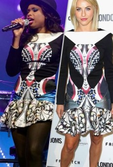 Seeing Double: Jennifer Hudson and Julianne Hough Get Graphic in Peter Pilotto and More Matching Celebs