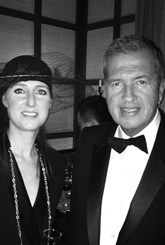 Elisabeth Koch with Mario Testino