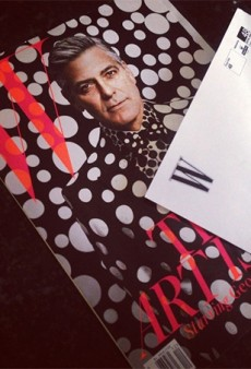 Preview: George Clooney Gets the Kusama Polka Dot Treatment (Or So It Appears) for W's Art Issue