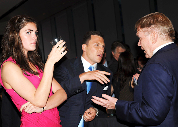 Hilary Rhoda and Sean Avery Power-Coupling at a magazine party in 2010 / Image: WENN.com
