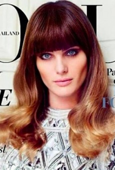 Isabeli Fontana Has Two-Tone Highlights (Yes, Really) On the Cover of Vogue Thailand's December Issue