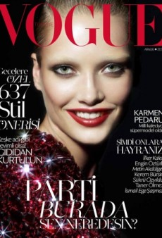 Karmen Pedaru Puts on a Creepy Smile for the Cover of Vogue Turkey's December Issue (Forum Buzz)