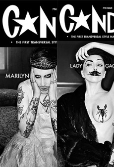 Lady Gaga and Marilyn Manson for the Cover of Candy (Yes, NSFW)