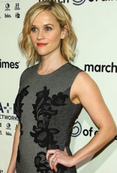 Reese Witherspoon Laces Up for a Luncheon in Diane von Furstenberg's Pentra Dress