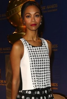 Zoe Saldana Stylishly Mixes Printed Pieces from Sachin + Babi's Spring 2014 Collection
