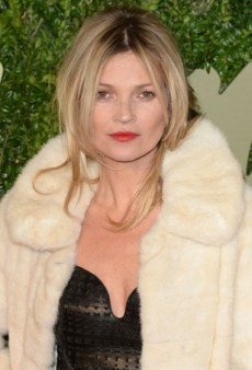 Kate Moss Celebrated at the British Fashion Awards 2013