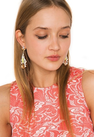 statement earring portrait