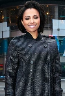 Kat Graham Shuts Down NASDAQ in a Lanvin Coat and Dolce & Gabbana's Bustier Dress