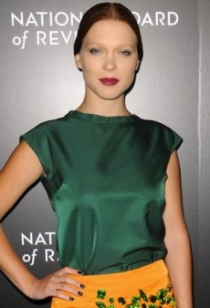Léa Seydoux Colorfully Clashes in Prada at the 2014 National Board of Review Awards Gala