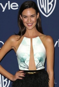 Odette Annable Strikes a Pose in an Intricate Peggy Hartanto Spring 2013 Dress