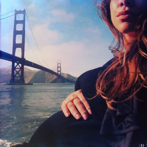 Rheanna Martinez takes a artistic selfie with the Golden Gate bridge in the backdrop