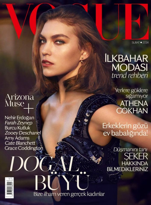 Arizona Muse on the cover of Vogue Turkey February 2014